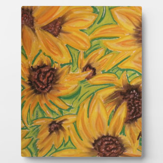 The Sunnies Sunflowers by Michael David Plaque