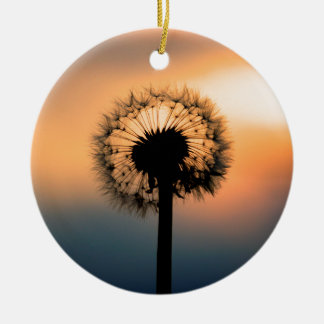 The Sunset and the Fragile Dandelion Ceramic Ornament