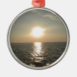 The Sunset at Bantayan Island in the Philippines Metal Ornament