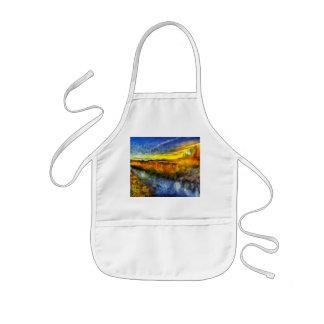 The Sunset River Van Gogh Kids Apron