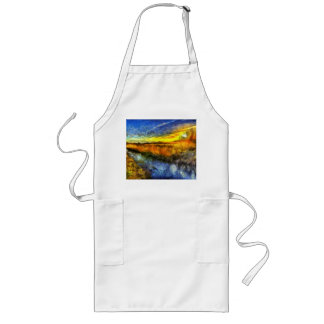 The Sunset River Van Gogh Long Apron