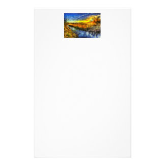 The Sunset River Van Gogh Stationery