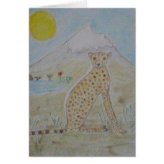 the sunshine cheetah card