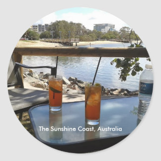 The Sunshine Coast Australia photo Classic Round Sticker