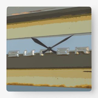The Super 88 Classic Car Design Square Wall Clock
