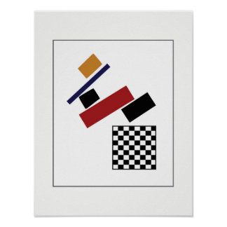 The Super Checker, After Malevich Poster