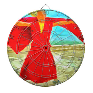 The super fit monk in red dartboard