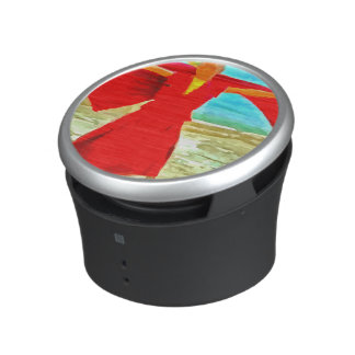 The super fit monk in red speaker
