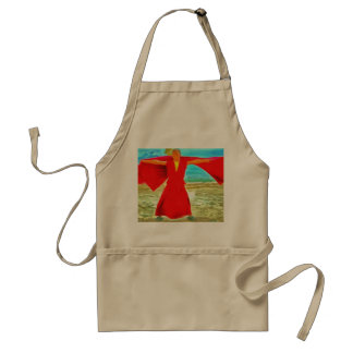 The super fit monk in red standard apron
