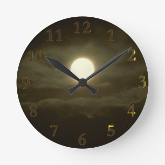 the super moon round clock