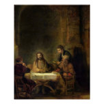 The Supper at Emmaus, 1648 (oil on panel) Poster