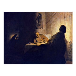 The Supper At Emmaus. By Rembrandt Van Rijn Postcard