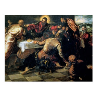 The Supper at Emmaus (oil on canvas) Postcard