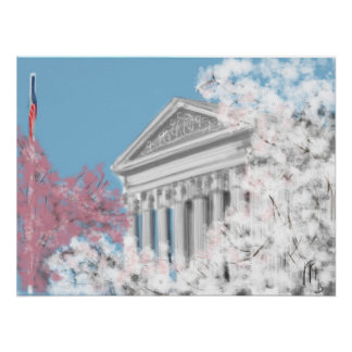 The Supreme Court and Cherry Blossoms Poster