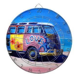 The surf Bus Series - The Love Surf Bus Dartboard