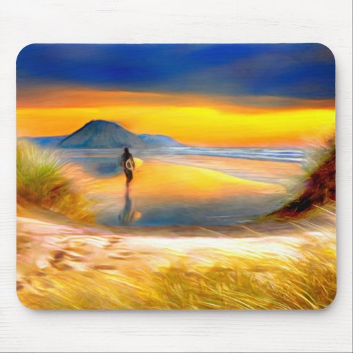 The surf is up in Cali ! Mouse Pad
