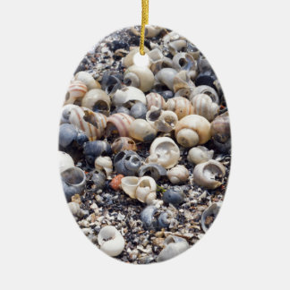 The surface of the sea coast with blur background ceramic oval decoration