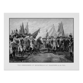 The Surrender Of Cornwallis At Yorktown Poster