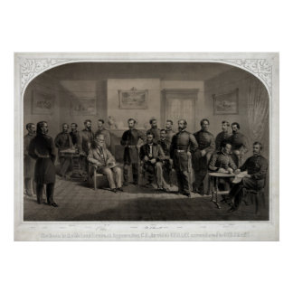 The Surrender of General Lee Lithograph Poster