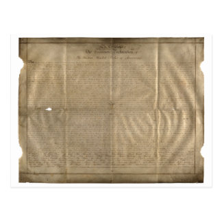 The Sussex Declaration of Independence (c. 1780) Postcard