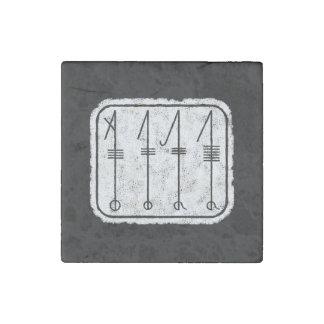 THE SVEFNTHORN Viking design Stone Magnet