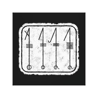 THE SVEFNTHORN Viking Symbol Canvas Print
