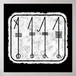 THE SVEFNTHORN Viking Symbol Poster