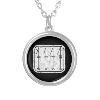 THE SVEFNTHORN Viking Symbol Silver Plated Necklace