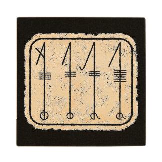THE SVEFNTHORN Viking Symbol Wood Coaster