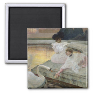 The Swans, 1900 Square Magnet