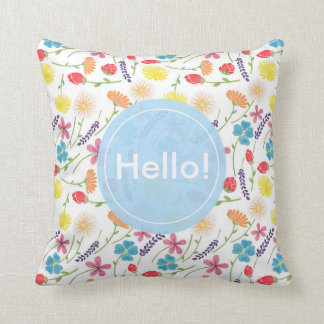 The Sweet Colorful Little Flowers Cushion