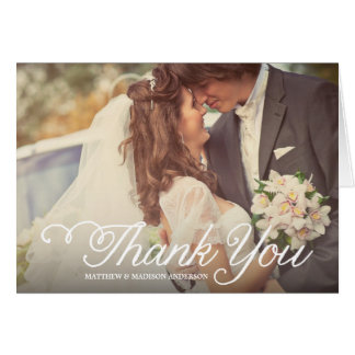 The Sweetest Day   Wedding Thank You Greeting Card