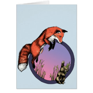 The Swift Red Fox - Greeting Card