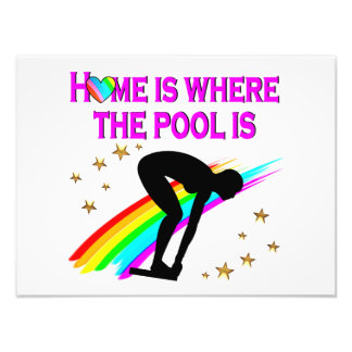 THE SWIMMER IS ALWAYS READY FOR THE POOL ART PHOTO