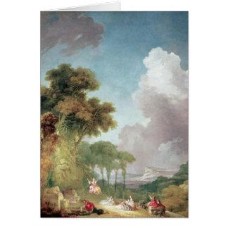 The Swing, c.1765 Card