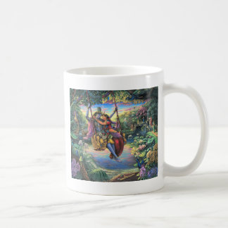 The Swing Pastime - Radha and Krishna Coffee Mug