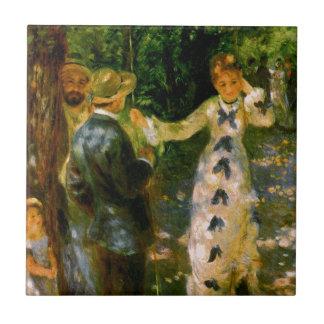 The Swing, Pierre Auguste Renoir Ceramic Tile