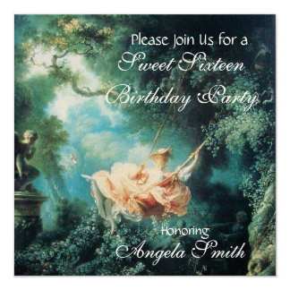 THE SWING  ,SWEET SIXTEEN PARTY Champagne Metallic Card