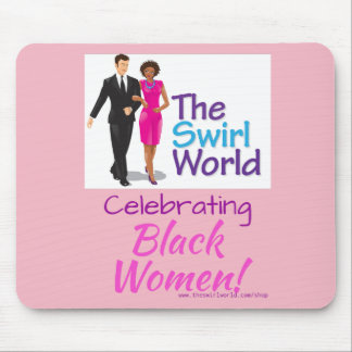 The Swirl World Logo Mouse Pad - Pink