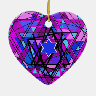 The swirling Star of David. Ceramic Ornament