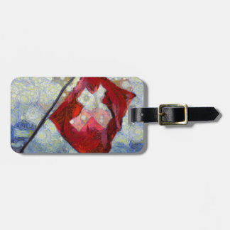 The Swiss Flag in a storm Luggage Tag