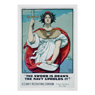 The Sword is Drawn - The Navy Upholds It (US02303) Poster