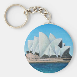 The Sydney Opera House 2 Basic Round Button Key Ring