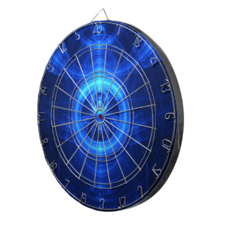 The Symbol of Purpose, Blue Glass Fractal Circles Dartboard