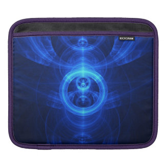 The Symbol of Purpose, Blue Glass Fractal Circles iPad Sleeve
