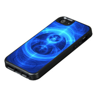 The Symbol of Purpose, Blue Glass Fractal Circles OtterBox iPhone 5/5s/SE Case