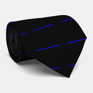 The Symbolic Thin Blue Line Black Style Tie