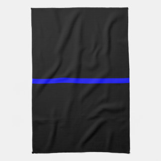 The Symbolic Thin Blue Line Decor Tea Towel