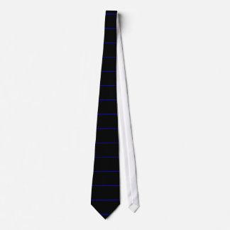 The Symbolic Thin Blue Line Decor Tie