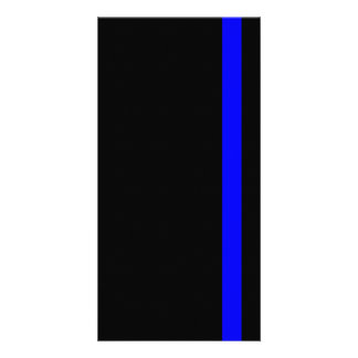 The Symbolic Thin Blue Line on Black Photo Greeting Card
